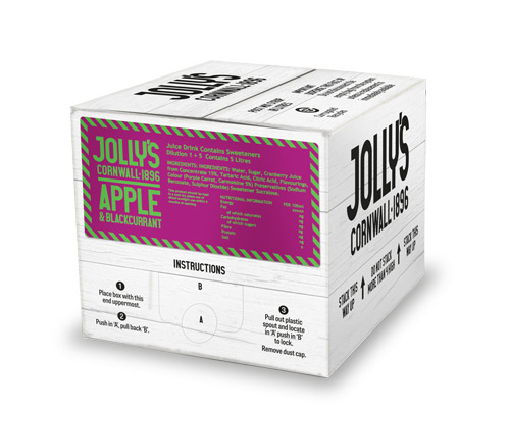 Jolly's post mix apple and blackcurrant drink