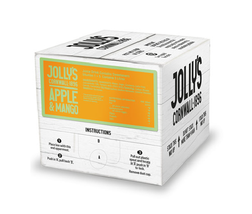 Jolly's soft drink apple and mango