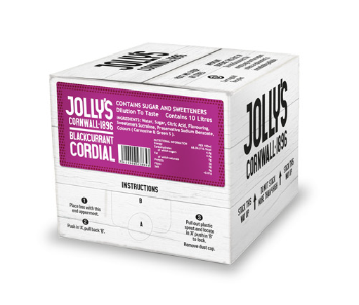 Jolly's post mix blackcurrant cordial