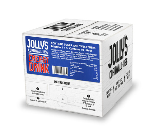 Jolly's post mix energy drink
