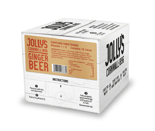 Jolly's post mix ginger beer