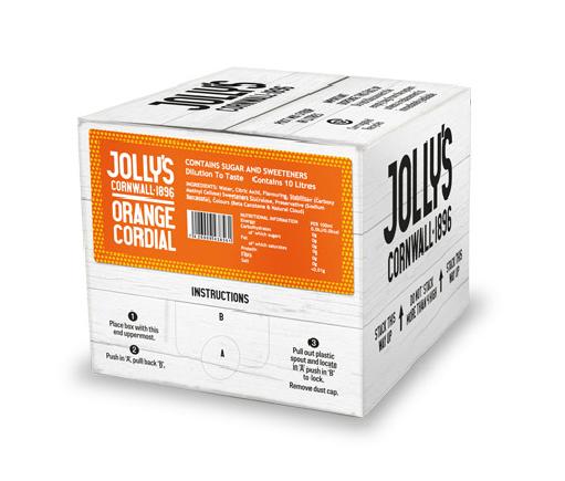 Jolly's post mix orange cordial