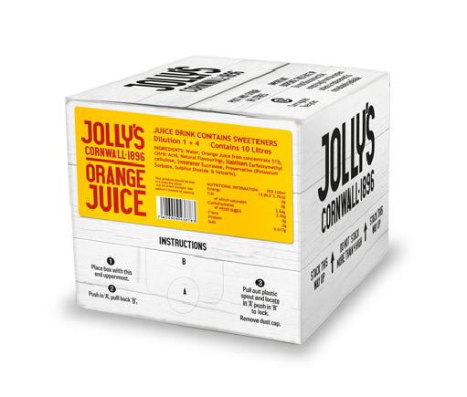 Jolly's post mix orange juice