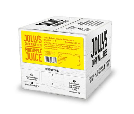 Jolly's post mix pineapple juice drink