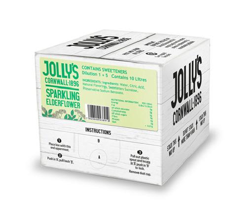 Jolly's post mix Sparkling Elderflower