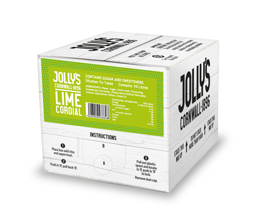 Jolly's Drinks Lime cordial post mix